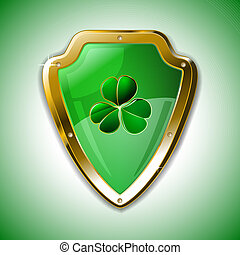 St. Patrick's armour shield with clover