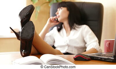 Relaxed Female Executive