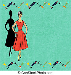 Retro Cocktail Menu - Background illustration for a cocktail...