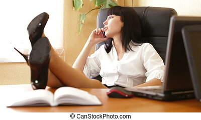 Businesswoman Relaxing