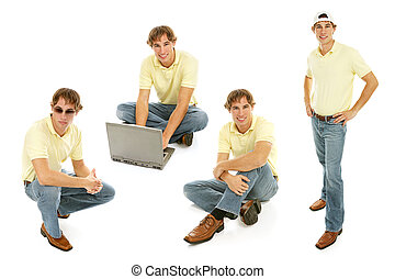 Stock Photo of Teenage Boy - Multiple Views - Handsome...