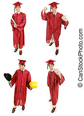 Stock Photo of Graduate - Multiple Views - Multiple views of...