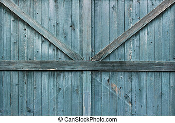 Blue Patina 1890s Door Texture - Blue patina on an 1890s...