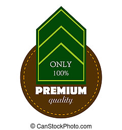 Vector set of high quality or  guaranteed label