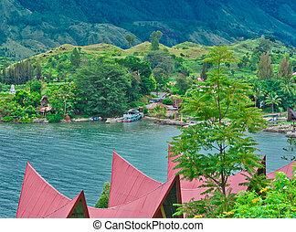 Samosir Island on Lake Toba, Sumatra