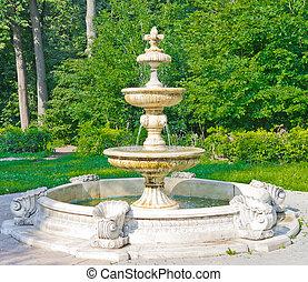 Ancient Fountain in Kuzminki Park, Moscow