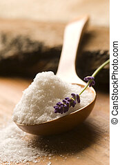 Bath Salt With Fresh Lavender Flowers - Soap With Fresh...