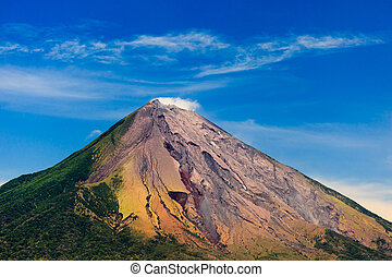 Colorful Conception Volcano - OMETEPE, NICARAGUA: View of...