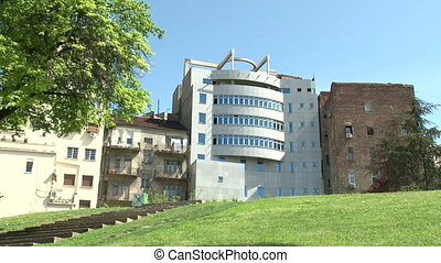 Belgrade, old and new buildings