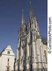 Saint Wenceslas Cathedral in Olomouc (Czech Republic) -...
