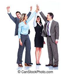 Grupo, negócio, pessoas, sucesso