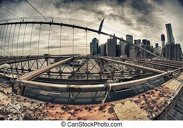 Brooklyn Bridge Architecture in New York City