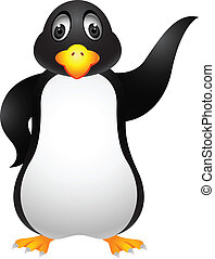 Penguin cartoon - Vector Illustration Of Penguin cartoon