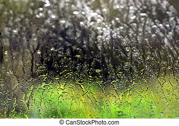 Background Photos - Rain Window - Abstract rain drops...