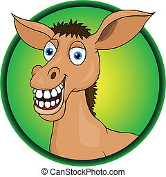 Horse/donkey cartoon - Vector Illustration Of Horse/donkey...