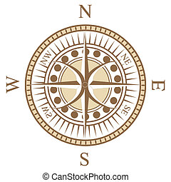 compass rose - a special design of compass rose