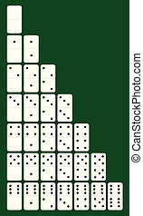 Set to play dominoes white Vector illustration