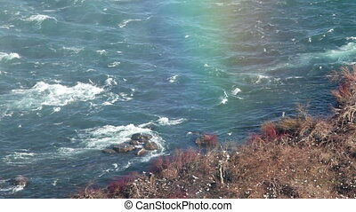 The end of the rainbow - Rainbow at Niagara falls from...