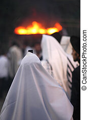 Meiron Israel Jewish Holiday Lag Bomer - Ultra Orthodox...