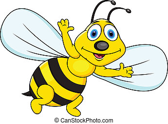 Funny bee cartoon - Vector Illustration Of Funny bee cartoon...