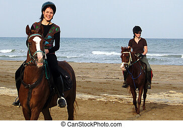 Horse Riding in Oman in the Middle East.