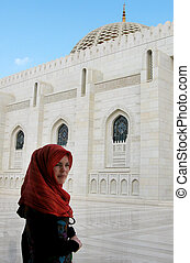 Al Qubrah Mosque in Muscat Oman in the Middle East.