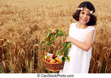 Israeli Children Participate in Shavuot Jewish  Holiday