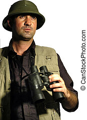 People Portraits - Explorer - A man dressed like en explorer...