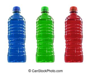 Flavoured Sports Drinks - Flavoured sports drinks isolated...