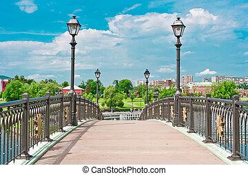 Bridge in Tsaritsino Park, Moscow