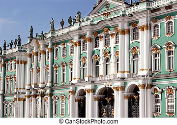 Winter Palace, Russia - Winter Palace on Palace Square in...