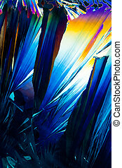 Salicylic acid crystals in polarized light - Colorful...