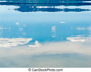 Water Surface mirrored Landscape Abstract