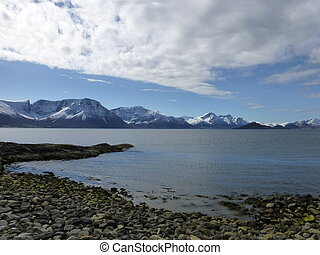 Headland - Storfjorden, western part of Norway, just south...