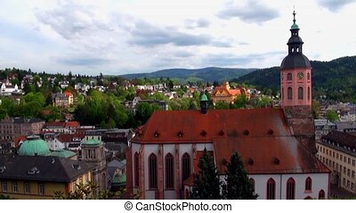 Panoramic view of Baden-Baden. Euro