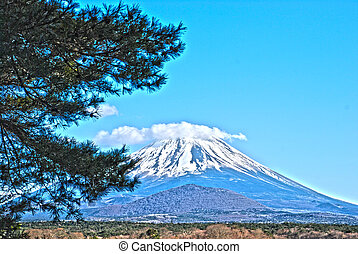 The beautiful Mount Fuji hdr - The beautiful Mount Fuji in...