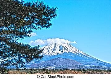 The beautiful Mount Fuji hdr - The beautiful Mount Fuji in...