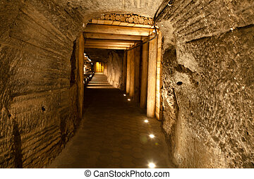 Wieliczka Salt Mine continuously produced table salt from...