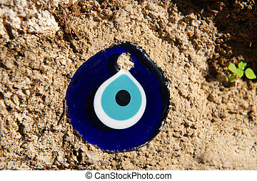 Turkish evil eye in the wall