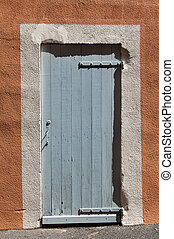 Closed French door - Closed wooden French door