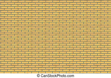 Yellow brick wall - Wall of a house from a yellow brick. A...
