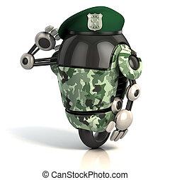 robot soldier 3d illustration