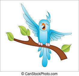 Sparrow - Conceptual Design Art of Cute Cartoon Sparrow Bird...