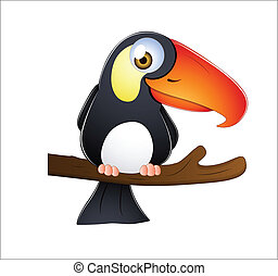Toucan Bird - Abstract Creative Conceptual Design Art of...