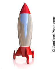 3d rocket isolated illustration