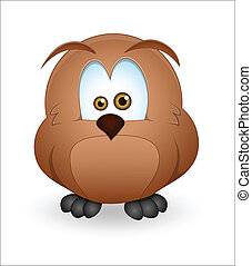 Cute Owl - Creative Abstract Conceptual Design Art of Cute...