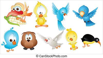 Cute Birds - Creative Abstract Conceptual Design Art of Cute...
