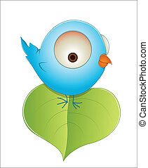 Cute Cartoon Baby Bird - Creative Abstract Conceptual Design...