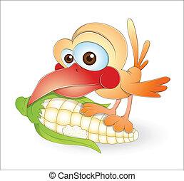 Hungry Bird - Creative Abstract Conceptual Design Art of...