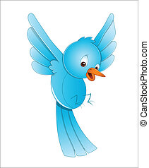 Cute Bird Flying - Lovely Art of Cute Cartoon Bird Flying...